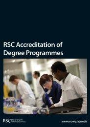 RSC Accreditation of Degree Programmes - Royal Society of ...