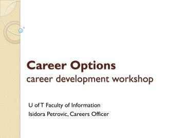 Career Options - Faculty of Information