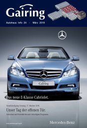 Das neue E-Klasse Cabriolet. - Gairing GmbH & Co. KG