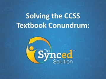Solving the CCSS Textbook Conundrum: