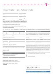 Antrag T-Home-Produkte(ca. 0,6 MB - Mobilfunk, Internet, Telefon ...