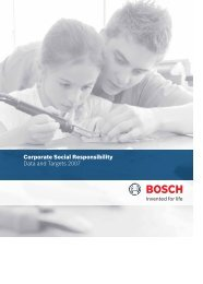 Corporate Social Responsibility Data and ... - Bosch worldwide