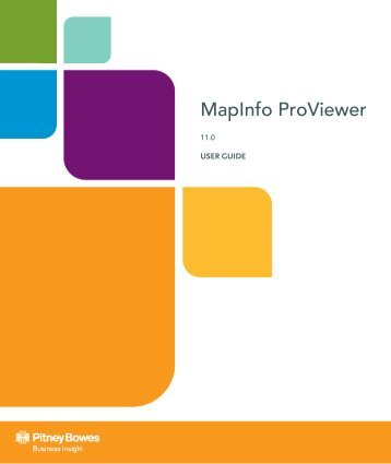 MapInfo ProViewer User Guide - Product Documentation - MapInfo