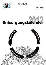Abfuhr und Entsorgung 2012 - Gemeinde Dintikon