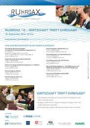 RUHRDAX-Flyer 2012 - Bürgerstiftung Duisburg