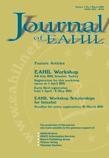 Journal vol 7 no 1 - European Association for Health Information and ...