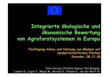 Integrierte ökologische und ökonomische Bewertung von ... - dendrom