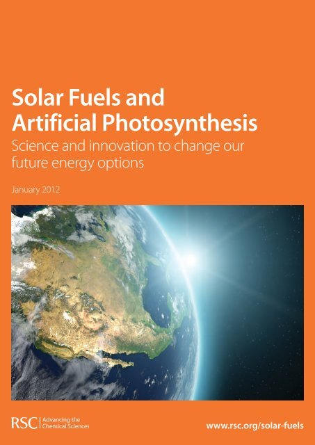 Solar Fuels and Artificial Photosynthesis - Royal Society of