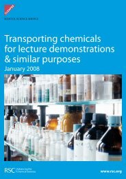 Transporting chemicals for lecture demonstrations & similar purposes