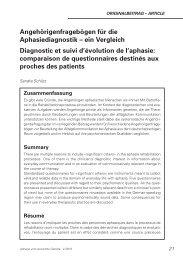 Angehörigenfragebögen für die Aphasiediagnostik – ein Vergleich ...