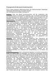 Phasengerechte Ernährung bei Kurzdarmsyndrom PD Dr ... - DGEM