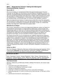 DIK-2 - Diagnostische Kriterien: Katalog berufsbezogener ...