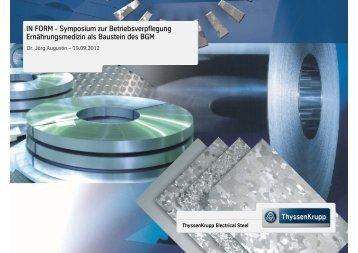 IN FORM - Symposium zur Betriebsverpflegung ... - Job&Fit