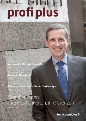 Regulierungen: ihre Möglichkeiten, ihre Grenzen - bankzweiplus.ch