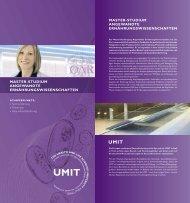 Folder Masterlehrgang - UMIT