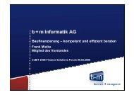 Vortrag: Baufinanzierung - b+m Informatik AG