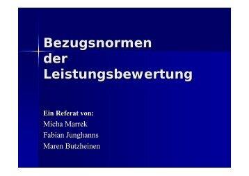 Konsequenzen der sozialen Bezugsnorm - Dr. Petra Buchwald