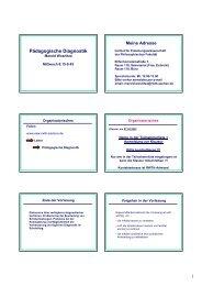 Pädagogische Diagnostik - RWTH Aachen University