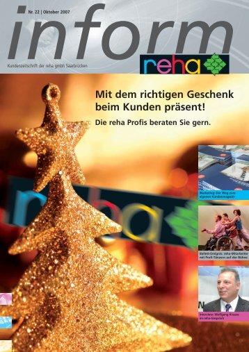 Mit dem richtigen Geschenk beim Kunden präsent! - Reha GmbH