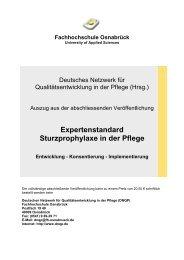 Expertenstandard Sturzprophylaxe in der Pflege - AOK ...