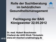 Rolle der Suchtberatung im behördlichen Gesundheitsmanagement ...