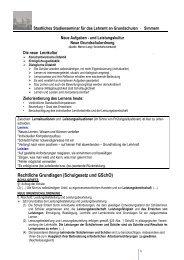 Rechtliche Grundlagen (Schulgesetz und GSchO)