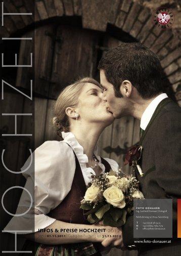 Preisliste Hochzeit 2012 als PDF - Foto Donauer