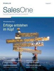 SalesOne Magazin 01 2011 - Pawlik Sales Consultants AG
