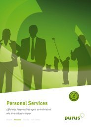 Personal Services - purus AG
