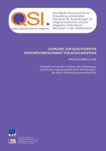 lehrgang zur qualifizierten integrationsfachkraft für schulassistenz