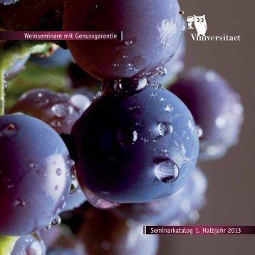 Weinseminare im 1. Halbjahr 2013 (PDF 2,1