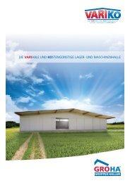 Broschüre Variko - Gropper Hallenbau GmbH