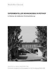 experimenteller wohnungsbau in rütihof - Rütihöfler Chronik