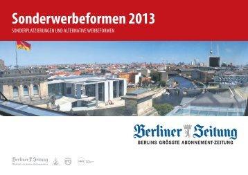 sonderwerbeformen 2013 - Berliner Zeitung