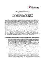 Integrativ Psychiatrische Behandlung - Alexianer Krefeld
