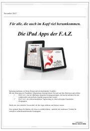 FAZ iPad-App Spezifikationen - iq media marketing