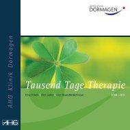 Tausend Tage Therapie - AHG Allgemeine Hospitalgesellschaft