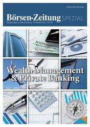 Börsen-Zeitungspezial Wealth Management & Private Banking