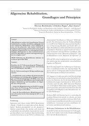 Allgemeine Rehabilitation. Grundlagen und Prinzipien