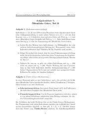 Aufgabenblatt 5: ¨Offentliche Güter, Teil II