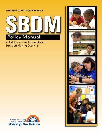 SBDM Policy Manual - Jefferson County Public Schools