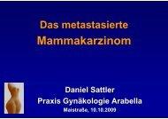 Das metastasierte Mammakarzinom von Dr. Daniel Sattler