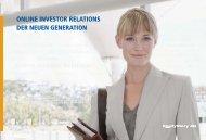 ONLINE INVESTOR RELATIONS DER NEUEN ... - Dynamics Group