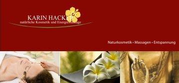 Entspannung - Kosmetik Karin Hacker