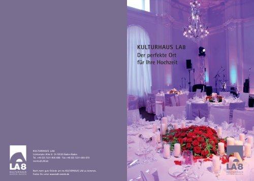 Kulturhaus La8 Hochzeitsbroschure Brenners Park Hotel Spa