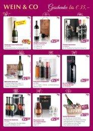 Geschenke bis € 35,– - Wein & Co