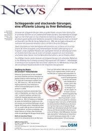 Anleitung zur Behebung von Gärstörungen - Max F. Keller  GmbH
