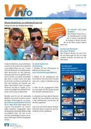 Meine BankCard, so individuell wie ich - VR-Bank Rhein-Sieg eG