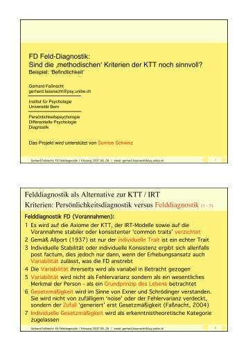 FD Befindlichkeit - Ambulatory Assessment
