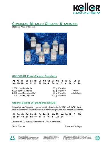 CONOSTAN METALLO-ORGANIC STANDARDS